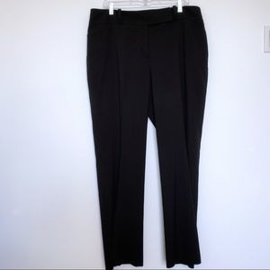 Ann Taylor Curvy Fit Black Career Trousers size 16